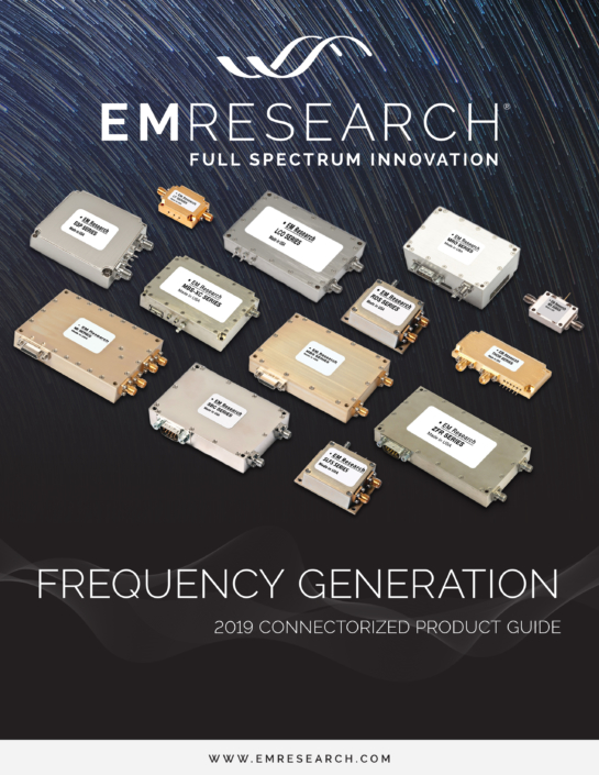 2019 Connectorized Frequency Generation Catalog Cover Image