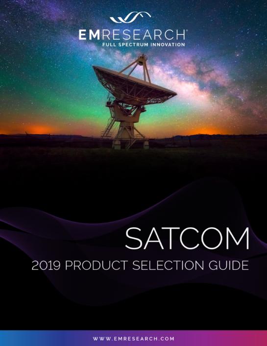2019 SATCOM catalog cover